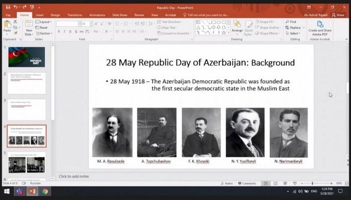 В БГУ иностранным студентам рассказали о Дне Республики