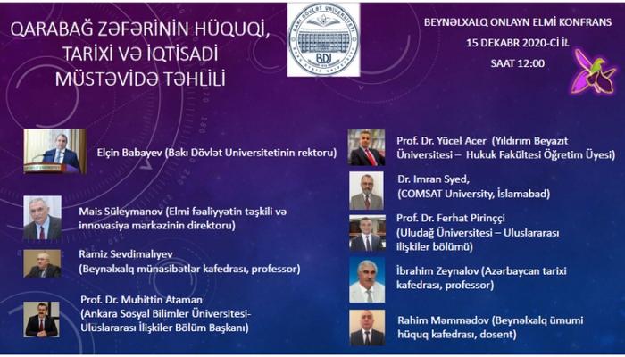 В БГУ проведена международная конференция «Правовой, исторический и экономический анализ победы в Карабахе»