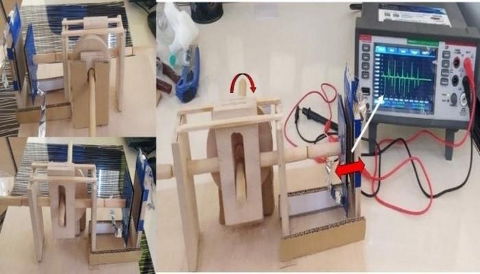 В БГУ разработан миниатюрный трибоэлектрический генератор