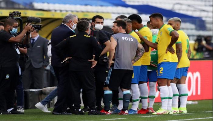 В матче Бразилия-Аргентина в Сан-Паулу произошел скандал