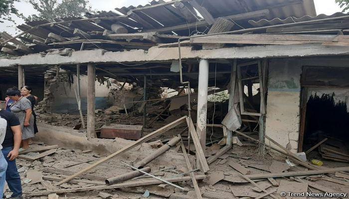 В результате армянской провокации нанесен ущерб 35 домам в Товузском районе