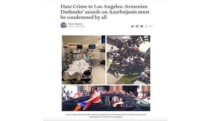 В США опубликована статья генконсула Азербайджана в Лос-Анджелесе о зверствах армян