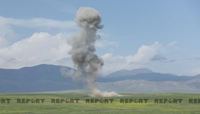 Vətən müharibəsində atılmış bombalardan biri partlayıb, xəsarət alan var