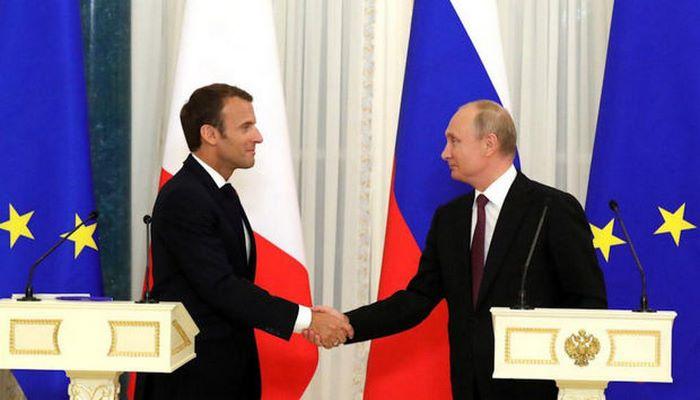 Vladimir Putin Makronla telefonla danışıb:  Bugünkü üçtərəfli görüş müzakirə olunub