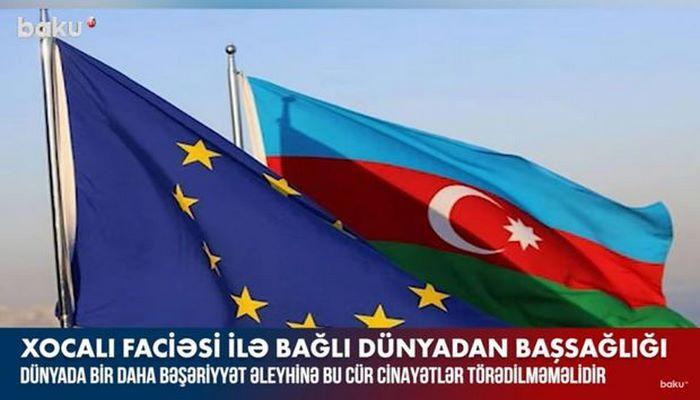 Xocalı faciəsi ilə bağlı dünyadan Azərbaycana başsağlığı