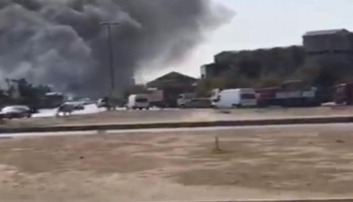 В Баку произошел сильный пожар