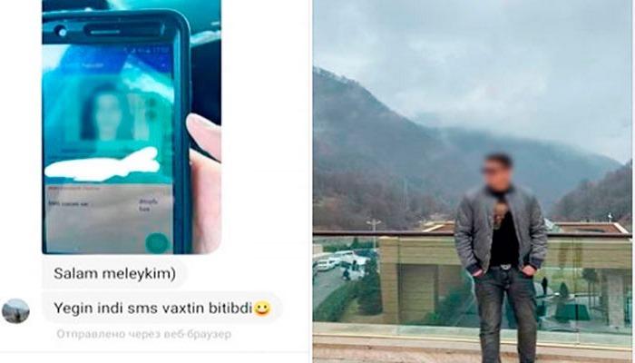 Yoxlanışdan sonra qadına mesaj yazan polis işdən çıxarıldı