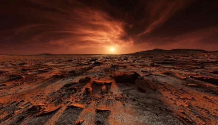 Marsda günəşin çıxması necə görünür?