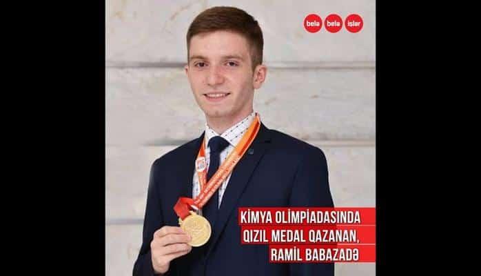 Cənubi Koreyada təhsil alan, qızıl medallı Ramil