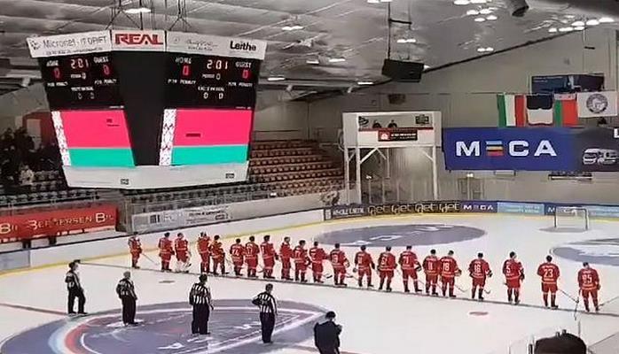 На матче вместо гимна Беларуси включили песню из «Ну Погоди!»