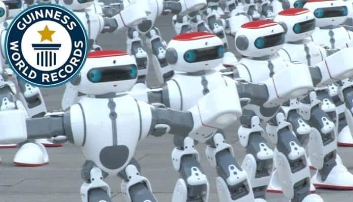 Yeni dünya rekordu: kütləvi robot rəqsi