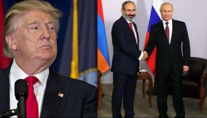 Paşinyan Putinə diz çökdü, Tramp hirsləndi
